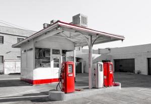 Vintage Gasoline Station